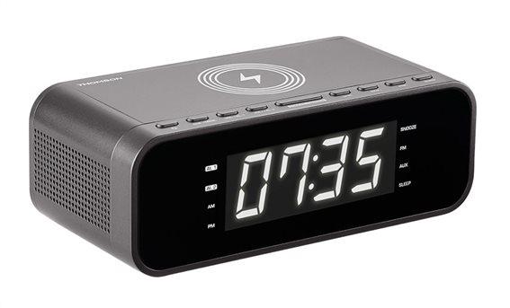 THOMSON Ξυπνητήρι CR255I FM ασύρματη φόρτιση dual alarm μαύρο