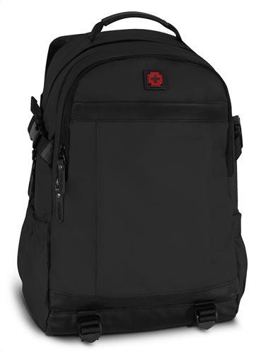 Swissbrand Σακίδιο πλάτης Dayton Black 46χ29χ15 cm με θέση για laptop