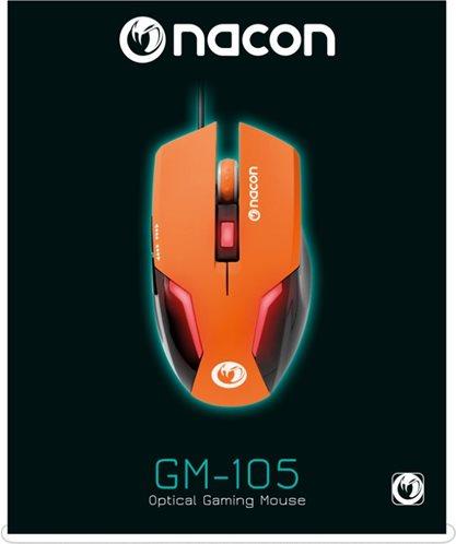 Nacon Οπτικό Gaming Ποντίκι PC PCGM-105ORANGE Orange