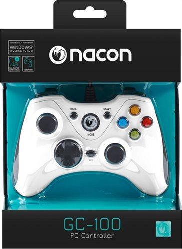 Nacon Ενσύρματο Gaming Χειριστήριο PC PCGC-100WHITE White