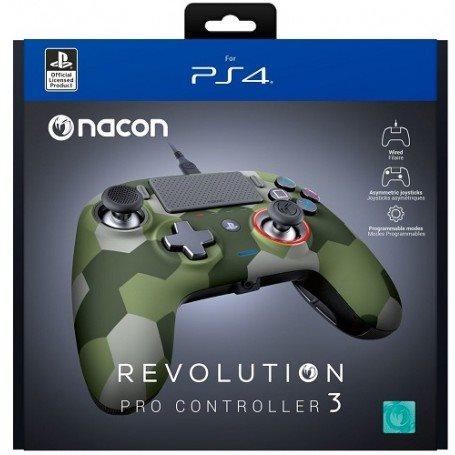 PS4 NACON WIRED COMPACT CONTROLLER CAMO GREEN