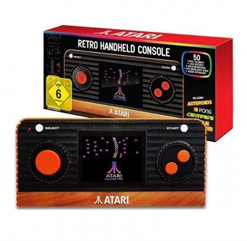 RETRO CONSOLE BLAZE ATARI HANDGHELD WITH A/V (50 GAMES)