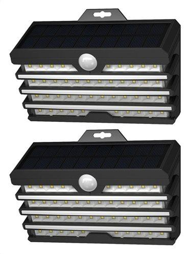 BASEUS LED ηλιακό φωτιστικό DGNEN-D01 5.1W 1800mAh IP65 μαύρο 2τμχ