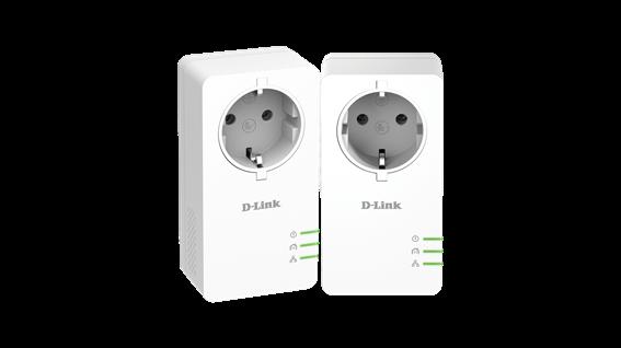 D-Link Κιτ PowerLine AV2 1000 HD Gigabit με πρίζα σούκο