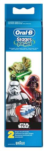 Oral-B Stages Power Star Wars Ανταλλακτικά Παιδικής Ηλεκτρικής Οδοντόβουρτσας Star Wars 2τμχ