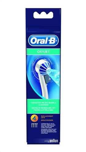 Oral-B Ανταλλακτικά Ακροφύσια, για Επαγγελματικό εκτοξευτή Νερού OxyJet Σετ 4τμχ ED17-4/N