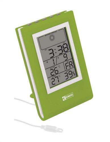EMOS Μετεωρολογικός σταθμός E0117 υγρόμετρο ημερολόγιο ρολόι