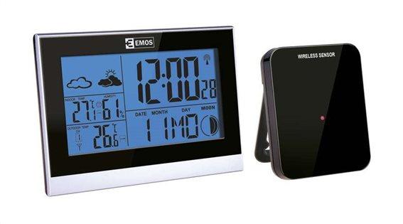 EMOS Μετεωρολογικός σταθμός E3070 υγρόμετρο ημερολόγιο ρολόι