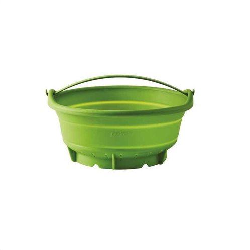 Mastrad Σουρωτήρι/Σκεύος Ατμού Πράσινο Πτυσσόμενο 24cm