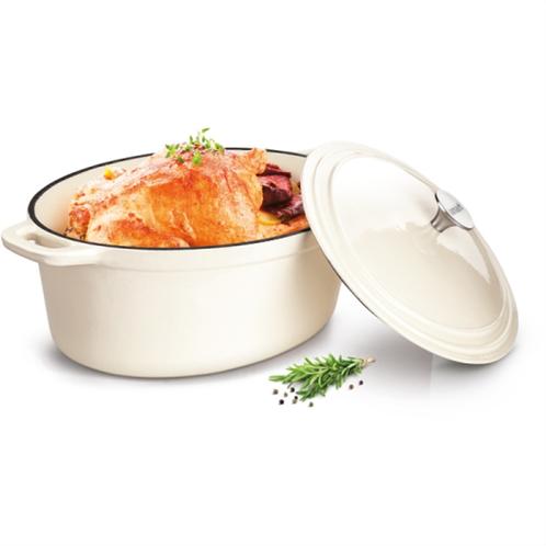Lamart σκεύος μαγειρικής κατσαρόλα από σμάλτο οβάλ lt1062