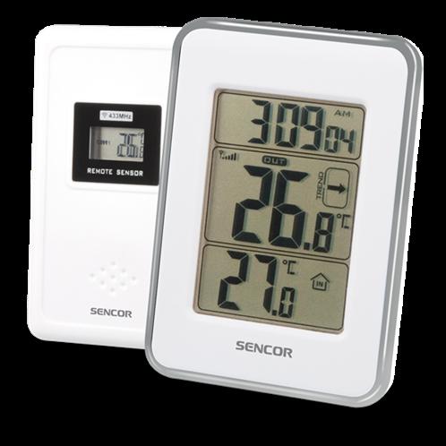Sencor Ασύρματο Θερμόμετρο Λευκό SWS 25 WS