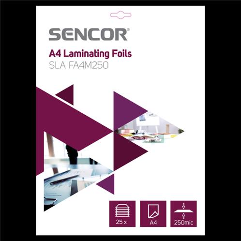 Sencor Ζελατίνες πλαστικοποίησης A4 SLA FA4M250