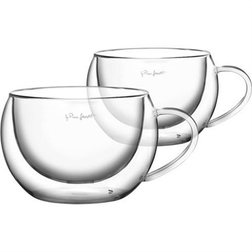 Lamart lt9012 σετ 2 γυάλινα ποτήρια cappuccino