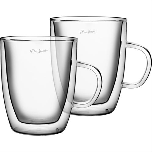 Lamart lt9008 σετ 2 γυάλινα ποτήρια τσαγιού σειρά vaso 420ml
