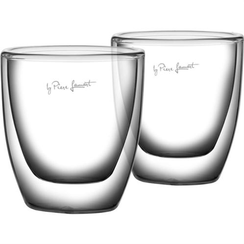Lamart lt9009 σετ 2 γυάλινα ποτήρια espresso σειρά vaso 80ml