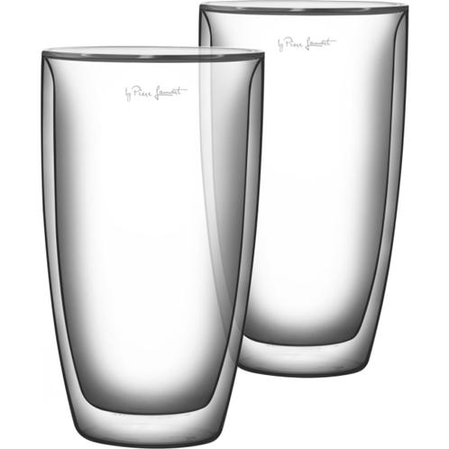 Lamart lt9010 σετ 2 γυάλινα ποτήρια καφέ σειρά vaso 230ml