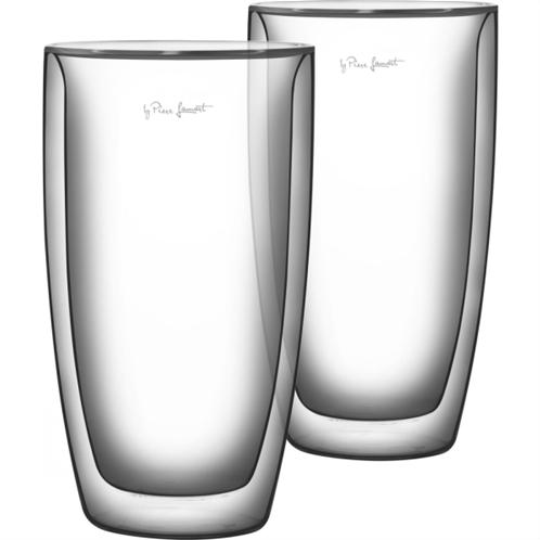 Lamart lt9011 σετ 2 γυάλινα ποτήρια latte σειρά vaso 380ml