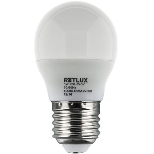Retlux Λάμπα LED Γλόμπος Θερμό Λευκό E27 5W RLL 271