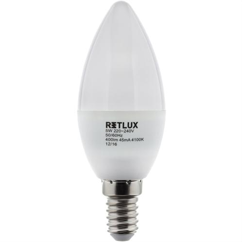 Retlux Λάμπα LED Κερί Ψυχρό Λευκό E14 5W RLL 263
