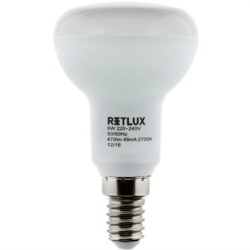 Retlux Λάμπα LED R50 Θερμό Λευκό E14 6W RLL 279