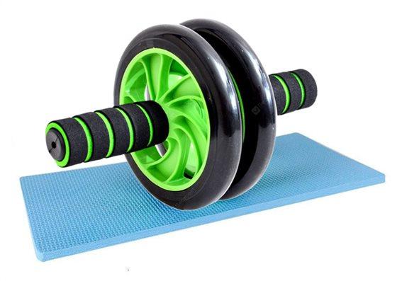 Ρόδα κυλιακών AB Wheel GYM-0001 μαύρο-πράσινο