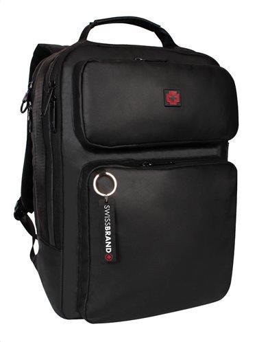 "Swissbrand Σακίδιο πλάτης Hanover 40x29x14 cm με θέση για laptop 15"""