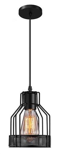 POWERTECH φωτιστικό οροφής HLL-0002 E27 μεταλλικό μαύρο
