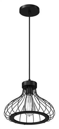 POWERTECH φωτιστικό οροφής HLL-0007 E27 μεταλλικό μαύρο
