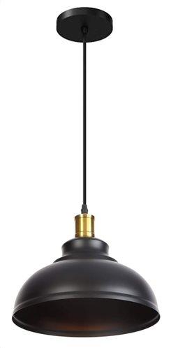 POWERTECH φωτιστικό οροφής HLL-0008 E27 μεταλλικό μαύρο