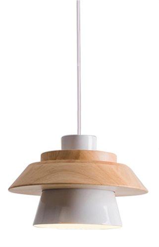 POWERTECH φωτιστικό οροφής HLL-0018 E27 ξύλινο λευκό