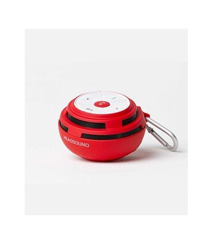 HEADSOUND-ball RED φορητό ηχείο με μικρόφωνο και επιλογή απάντησης κλήσεων