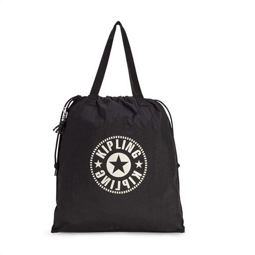 Kipling Τσάντα Ώμου Πτυσσόμενη με κορδόνι Hiphurray L Lively Black