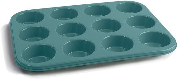 Jamie Oliver Φόρμα Αντικολλητική Πράσινη 35x27x3cm - για 12 Muffins
