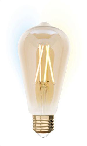 iDual Έξυπνη Λάμπα LED Filament μελί Smart ST64 9W E27 CCT 2200K-5500K 230V - Με τηλεκοντρόλ