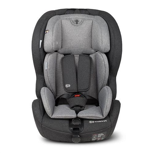 Kinderkraft Παιδικό Κάθισμα Αυτοκινήτου Χρώματος Γκρι για Παιδιά 9-36 Kg Safety - Fix