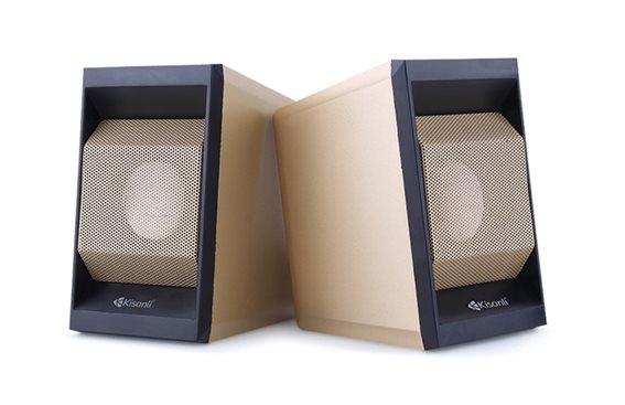 KISONLI Multimedia ηχεία Τ-006 2.0ch 2x 3W USB/Jack 3.5mm χρυσά