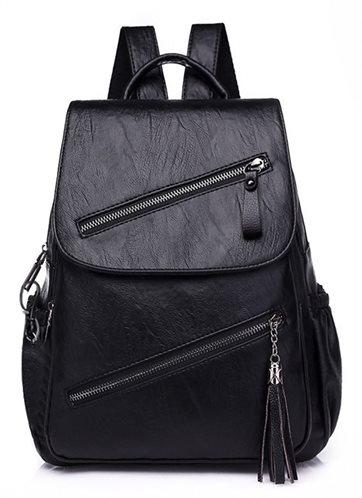 Γυναικεία τσάντα πλάτης LBAG-0005 μαύρη