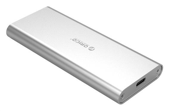 ORICO θήκη για Μ.2 B key SSD M2G-C3 USB 3.1 5Gbps 2TB ασημί