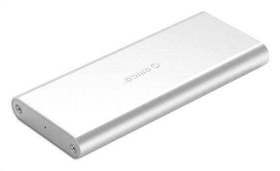 ORICO θήκη για Μ.2 B key SSD M2G-U3 USB 3.0 5Gbps 2TB ασημί