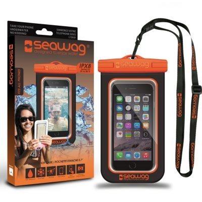 PHONE CASE SEAWAG WATERPROOF BLACK & ORANGE
