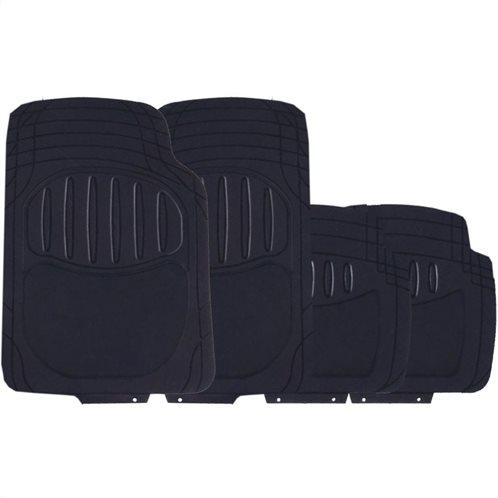 Simply Πατάκια αυτοκινήτου πολυτελείας Excalibur Μαύρο Μοκέτα-PVC Σετ 4τμχ
