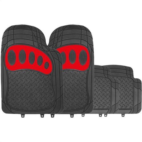 Simply Πατάκια αυτοκινήτου Venture Μαύρο/Κόκκινο PVC Σετ 4τμχ
