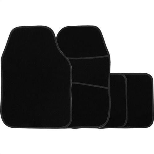 Simply Πατάκια αυτοκινήτου Galaxy Μοκέτα Μαύρο Ρέλι Σετ 4τμχ