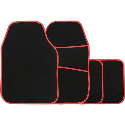 Simply Πατάκια αυτοκινήτου Galaxy Μοκέτα Κόκκινο Ρέλι Σετ 4τμχ
