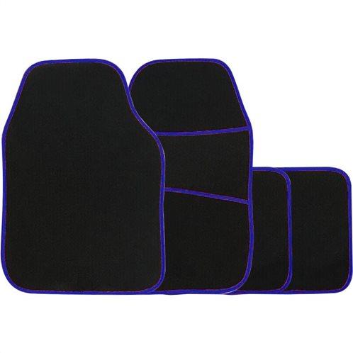Simply Πατάκια αυτοκινήτου Galaxy Μοκέτα Μπλε Ρέλι Σετ 4τμχ