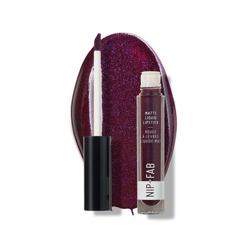 Nip + Fab Matte Black Grape Liquid Lipstick