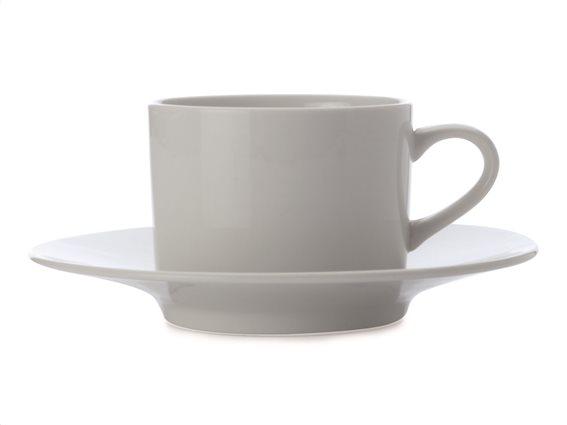 Maxwell & Williams Φλιτζάνι Καφέ & Πιατάκι Πορσελάνη White Basics