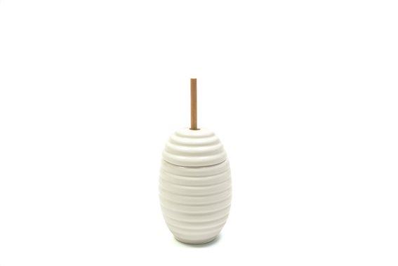 Maxwell & Williams Δοχείο για Μέλι Πορσελάνη 12cm. White Basics