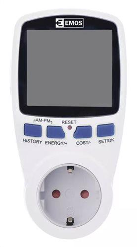 EMOS μετρητής κατανάλωσης ρεύματος P5821 με οθόνη 16Α