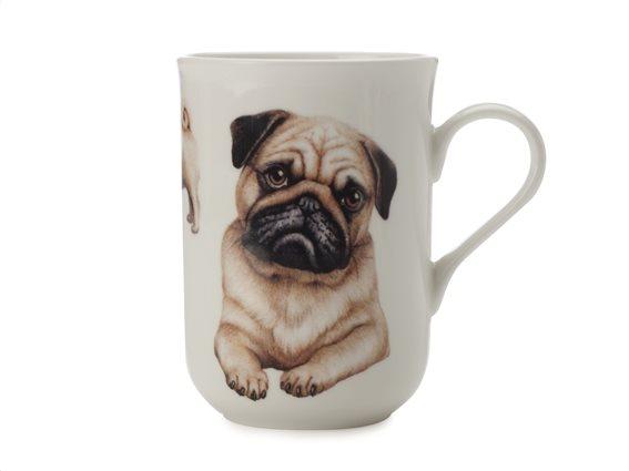"Maxwell & Williams Κούπα ""Pug-Κατοικίδια Σκυλιά"" 300ml. Cashmere Bone China"